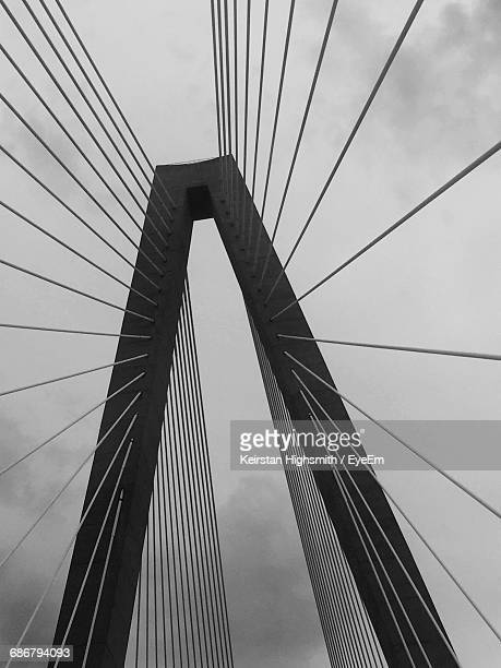 Low Angle View Of Cooper River Bridge Against Sky