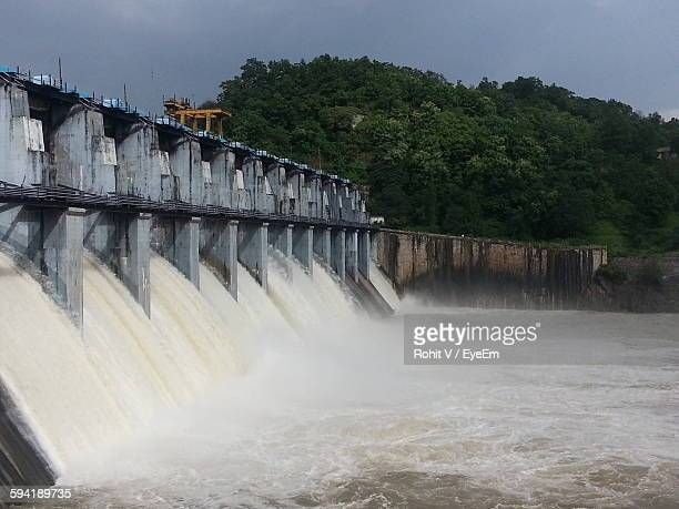 Low Angle View Of Dam Against Sky