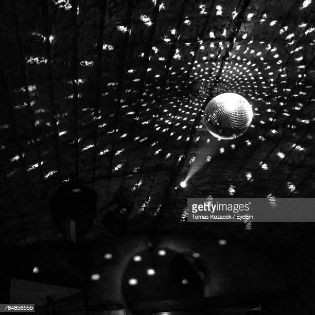 Low Angle View Of Disco Ball At Nightclub