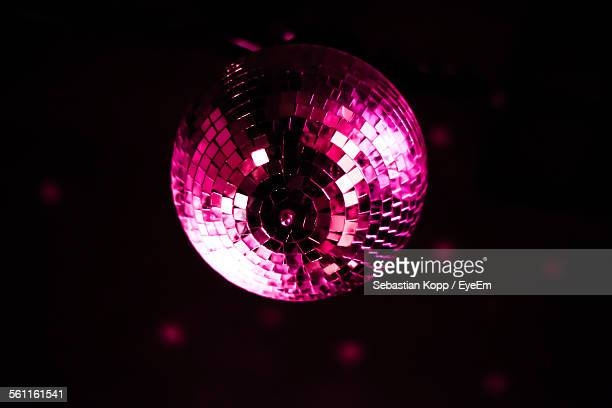 Low Angle View Of Disco Ball In The Dark