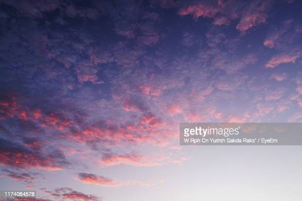 low angle view of dramatic sky during sunset - sky only stock pictures, royalty-free photos & images