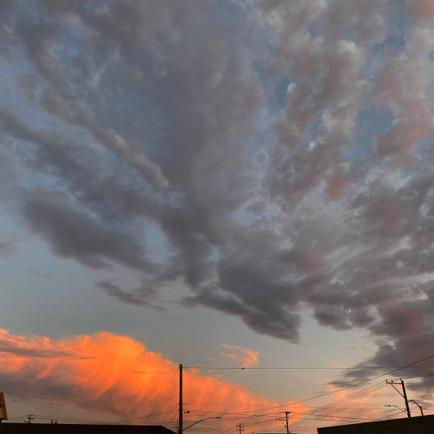 Low angle view of dramatic sky during sunset,Portland,Oregon,United States,USA