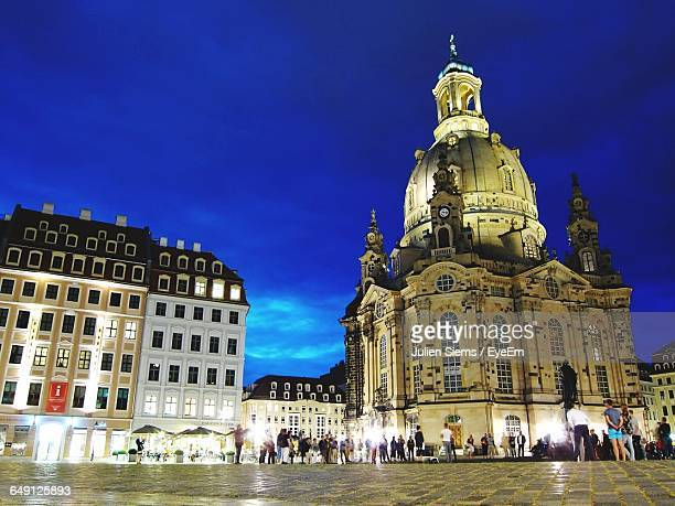 Low Angle View Of Dresden Frauenkirche Against Sky