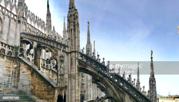 Low Angle View Of Duomo Di Milano Against Sky