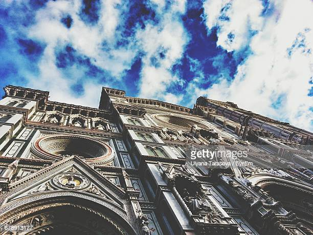 Low Angle View Of Duomo Santa Maria Del Fiore Against Cloudy Sky