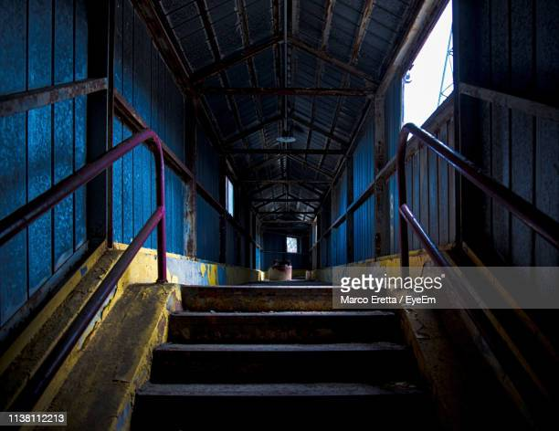 low angle view of empty bridge - tempio pausania stock pictures, royalty-free photos & images