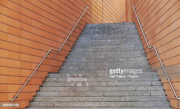 Low Angle View Of Empty Steps In Building
