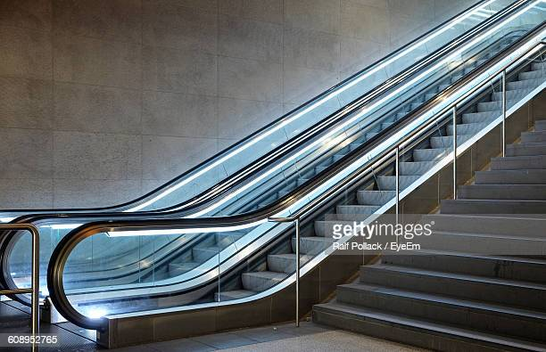 Low Angle View Of Escalators