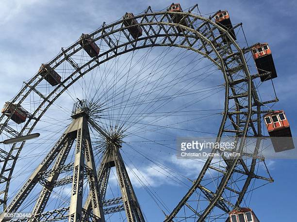 Low Angle View Of Ferris Wheel Against Sky At Prater