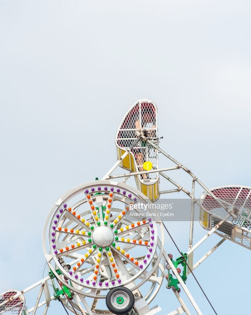 Low Angle View Of Ferris Wheel Against Sky : Stock Photo