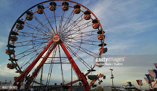 low angle view of ferris wheel against sky - columbus ohio stock pictures, royalty-free photos & images