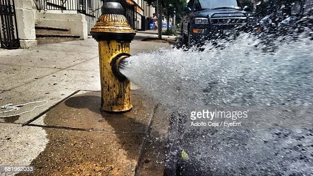 low angle view of fire hydrant - fire hydrant stock pictures, royalty-free photos & images