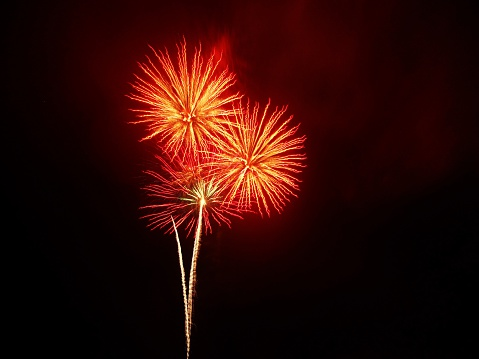 Low Angle View Of Firework Display Against Sky - gettyimageskorea