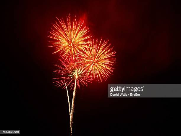 Low Angle View Of Firework Display Against Sky