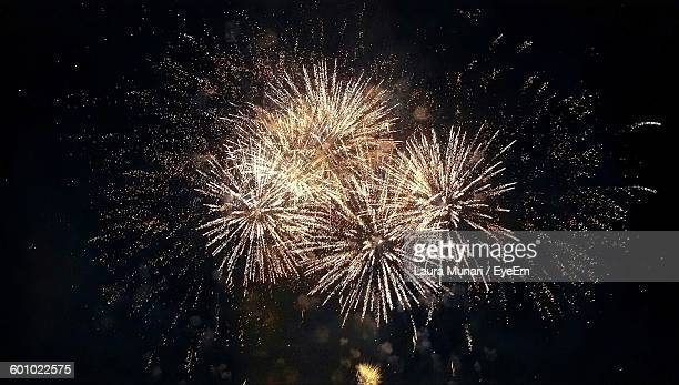 low angle view of firework display at night - firework display stock pictures, royalty-free photos & images