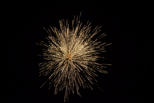 Low Angle View Of Fireworks Against Sky At Night - gettyimageskorea