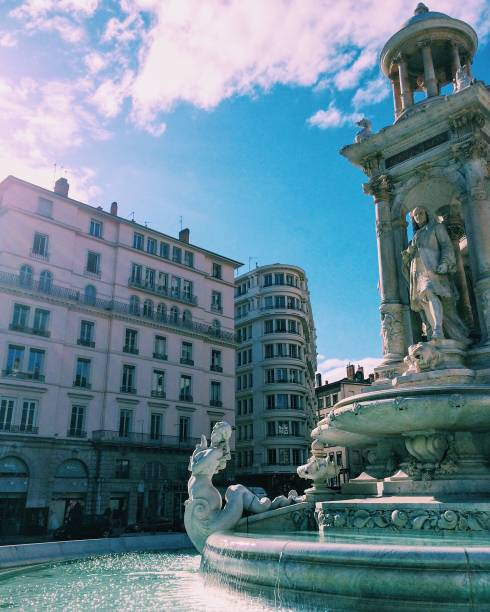 Low Angle View Of Fontaine Bartholdi In City