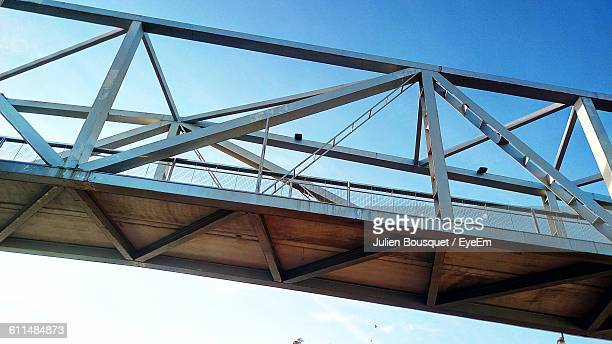 Low Angle View Of Footbridge Against Clear Sky