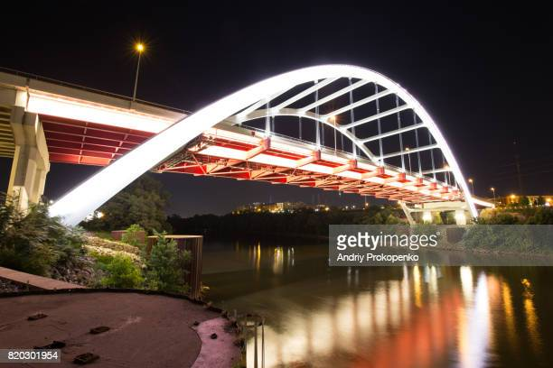 Low Angle View of Gateway Boulevard Bridge in Nashville, Tennessee, USA