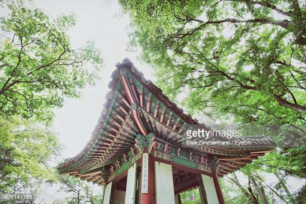 Low Angle View Of Gazebo By Trees At Changdeokgung