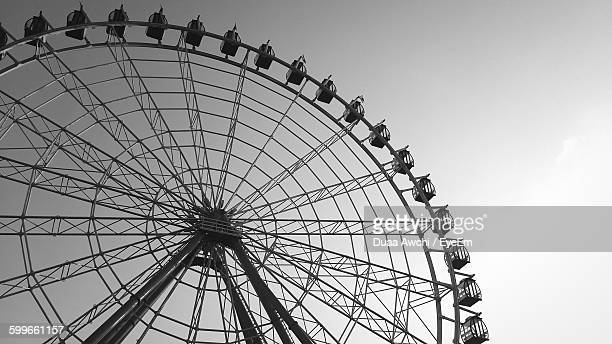 Low Angle View Of Giant Ferris Wheel Against Clear Sky