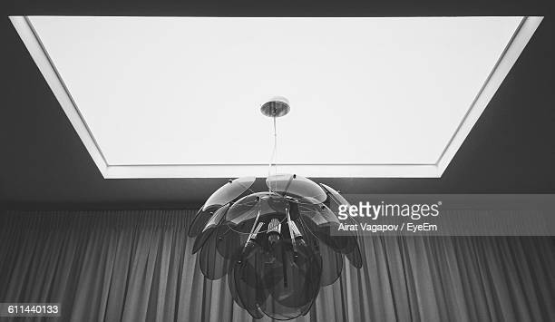Low Angle View Of Hanging Light At Ceiling