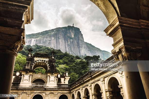 low angle view of historic building against sky - rio de janeiro stock-fotos und bilder