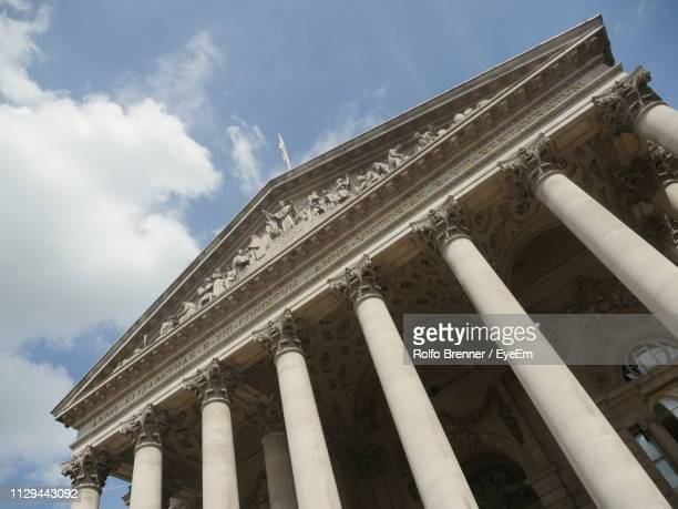 low angle view of historic building against sky - london court stock pictures, royalty-free photos & images