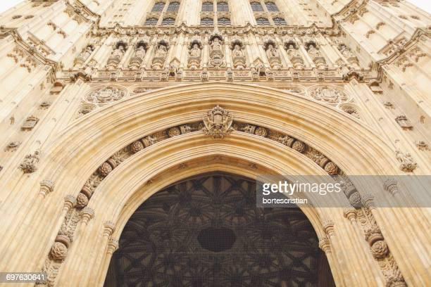 low angle view of historic cathedral - bortes fotografías e imágenes de stock