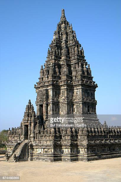 Low Angle View Of Historic Prambanan Temple Against Sky