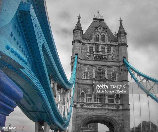 Low Angle View Of Historic Tower Bridge Against Sky