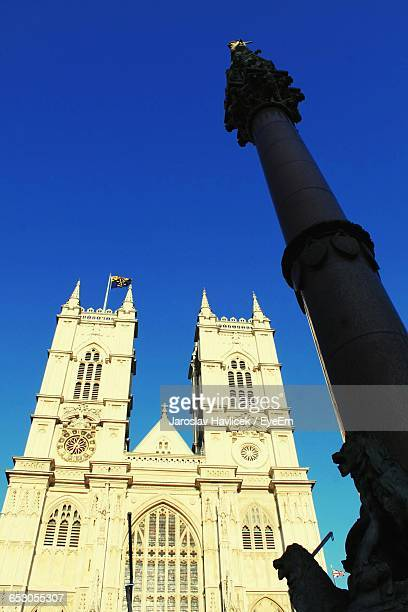 Low Angle View Of Historical Building Against Blue Sky