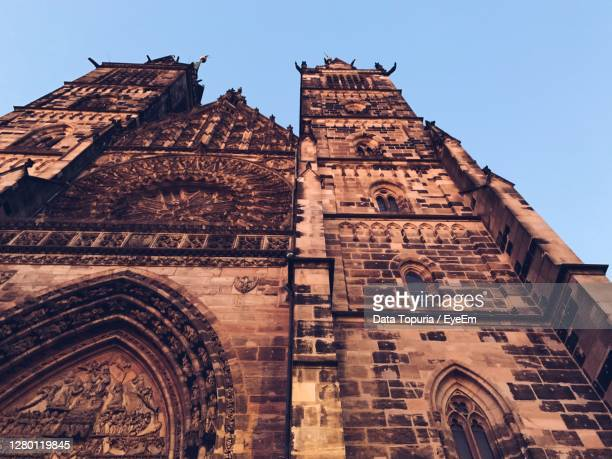 low angle view of historical building against clear sky - data topuria stock pictures, royalty-free photos & images