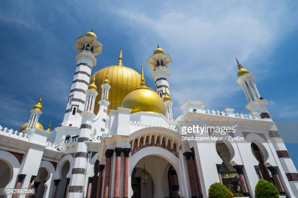 low angle view of historical mosque - shaifulzamri stock pictures, royalty-free photos & images