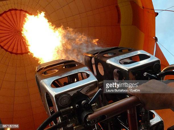 Low Angle View Of Hot Air Balloon Flame