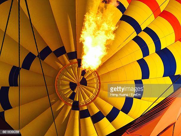 low angle view of hot air balloon - inflating stock pictures, royalty-free photos & images