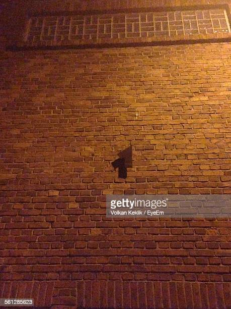 Low Angle View Of House Wall At Night