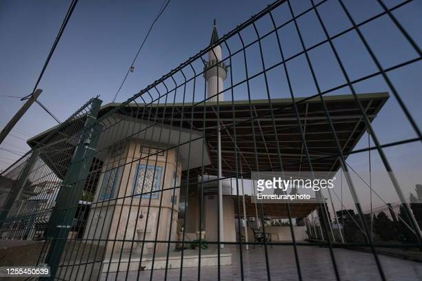low angle view of ildir village mosque at sunset ,cesme. - emreturanphoto stock pictures, royalty-free photos & images
