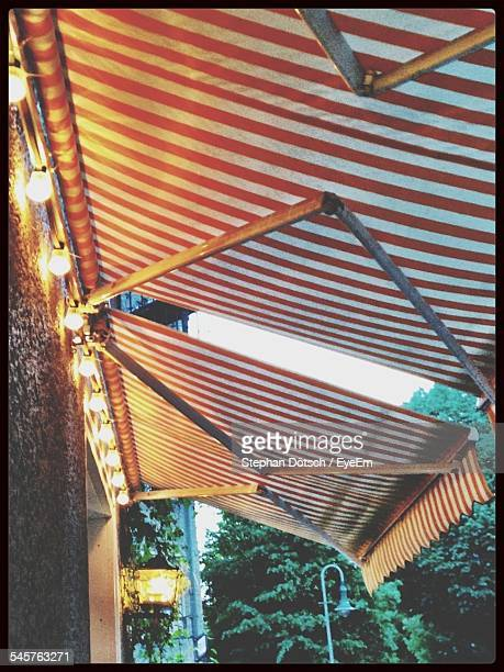 Low Angle View Of Illuminated Awning