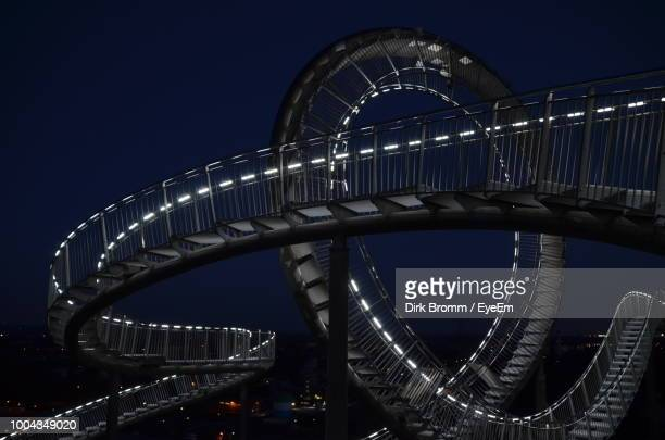 low angle view of illuminated steps at night - ruhr stock pictures, royalty-free photos & images