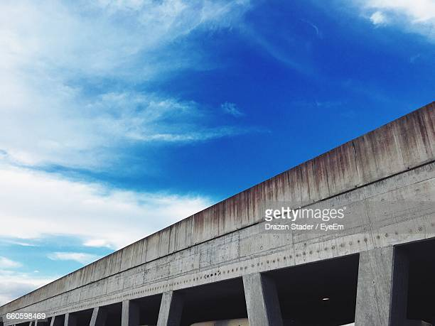 low angle view of incomplete bridge against sky - drazen stock pictures, royalty-free photos & images