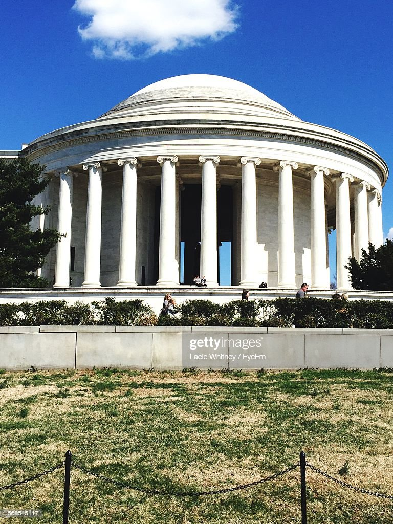 Low Angle View Of Jefferson Memorial Against Sky : Stock Photo