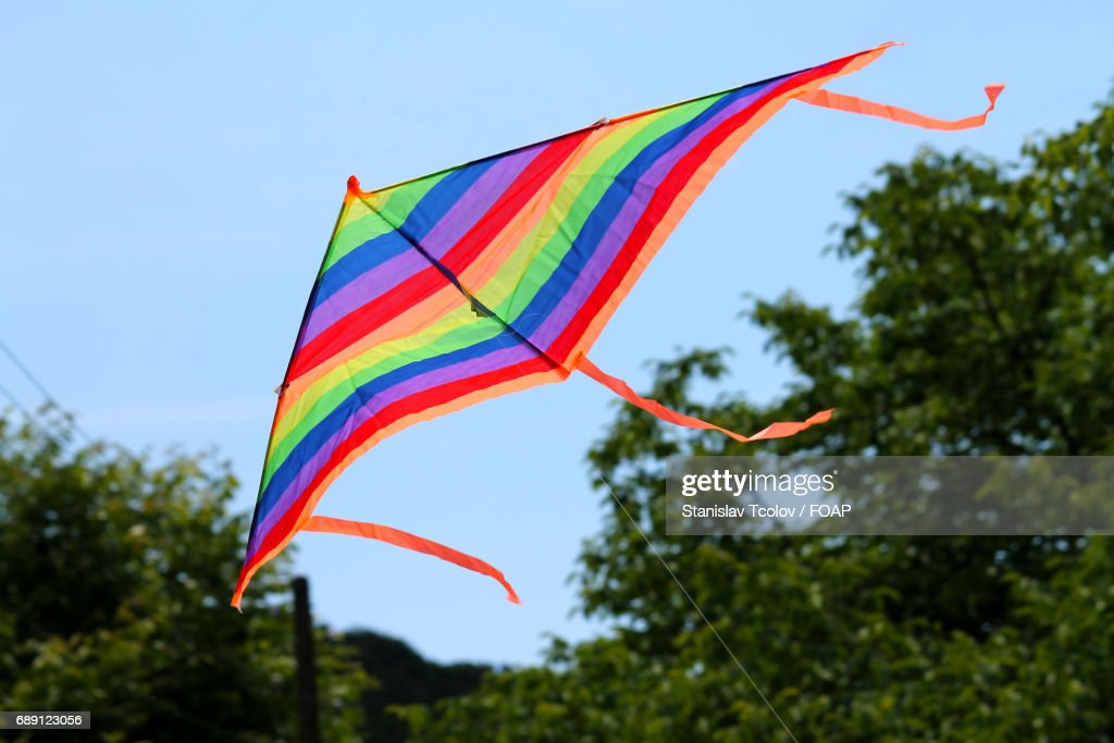 Low angle view of kite flying : Stock Photo