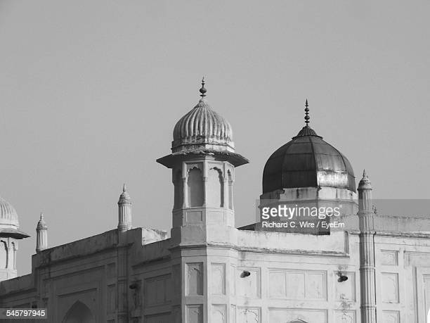 low angle view of lalbagh fort against clear sky - dhaka stock pictures, royalty-free photos & images