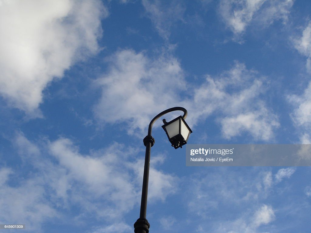 Low Angle View Of Lamp Post Against Sky : Stock Photo