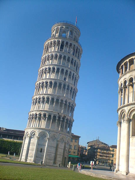 Low Angle View Of Leaning Tower Of Pisa