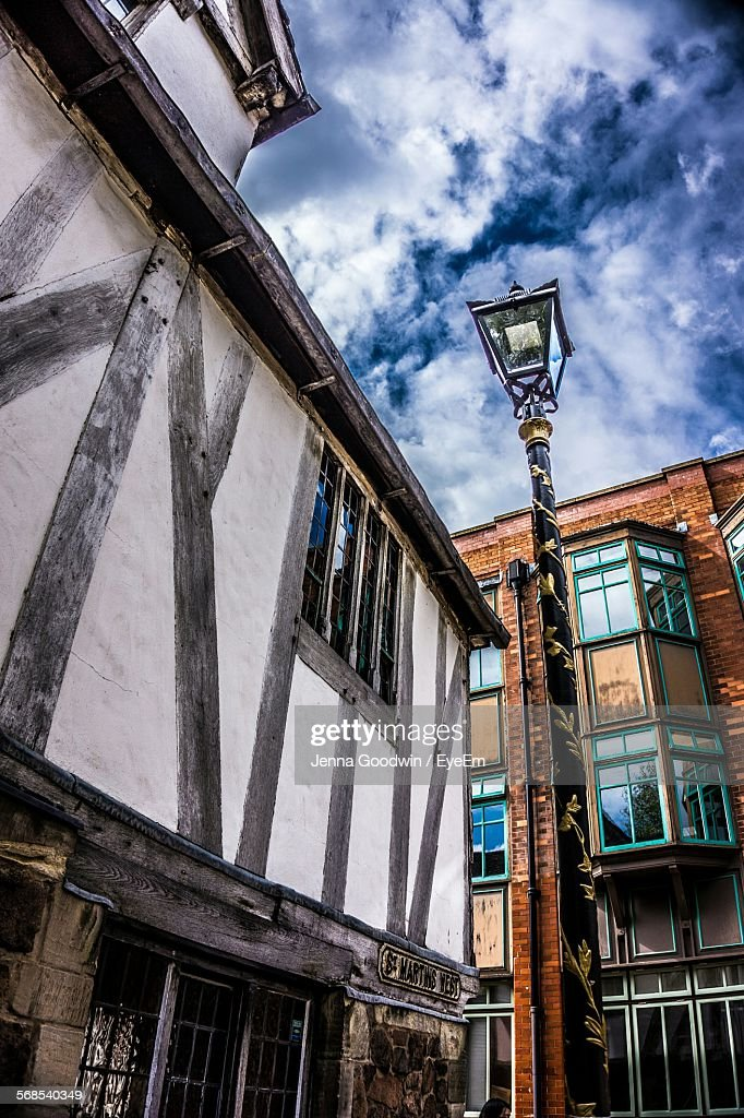 Low Angle View Of Leicestershire Against Cloudy Sky : Stock Photo