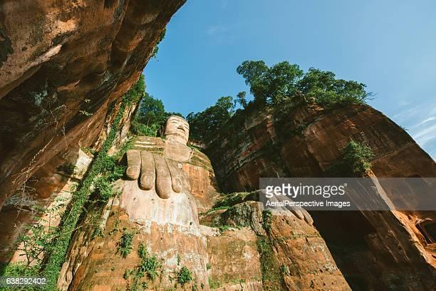 Low Angle View of Leshan Grand Buddha statue (Da Fo), Sichuan, China