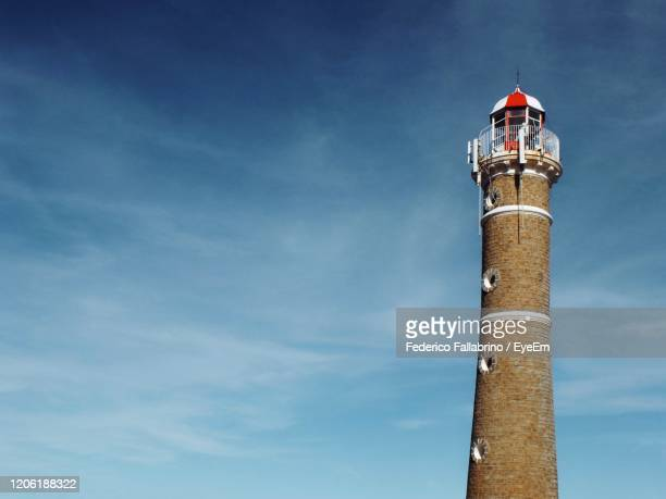 low angle view of lighthouse - jose ignacio lighthouse stock pictures, royalty-free photos & images