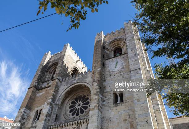 Low Angle View Of Lisbon Cathedral Against Sky